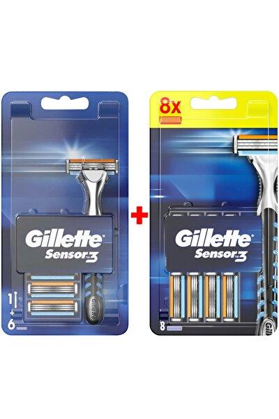 Sensor3 Tıraş Makinesi + Yedek Tıraş Bıçağı 14'lü