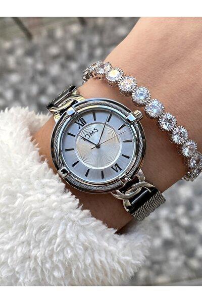 Kadın Silver Renk Çelik Kol Saati