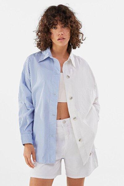 Kadın Beyaz Poplin Ince Ceket
