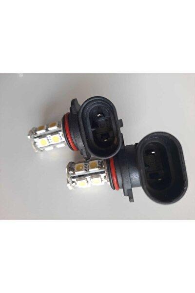 9006 Hb4 Model 12 Ledli Soketli Ampül Sis Beyaz Smd Ledli Far Ampül Seti Yüksek Işık Sis Gündüz Ledi