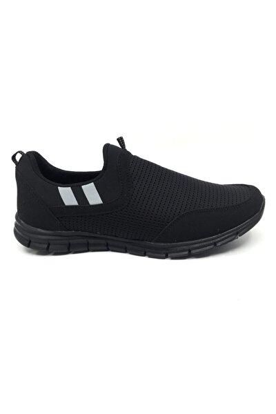 Erkek Siyah Yazlık Rahat Ortopedik Spor Ayakkabı
