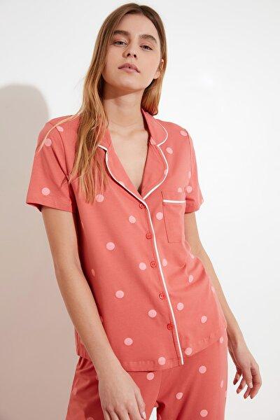 Puantiyeli Örme Pijama Takımı THMAW21PT0295