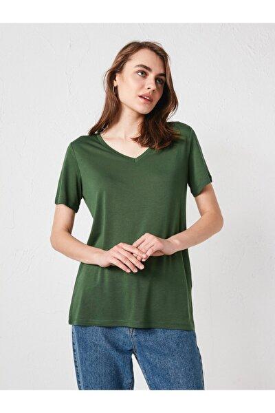 Kadın Orta Yeşil Tişört