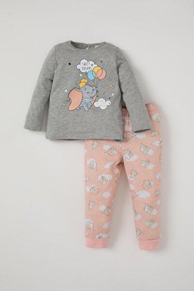 Kız Bebek Sevimli Fil Baskılı Pijama Takımı