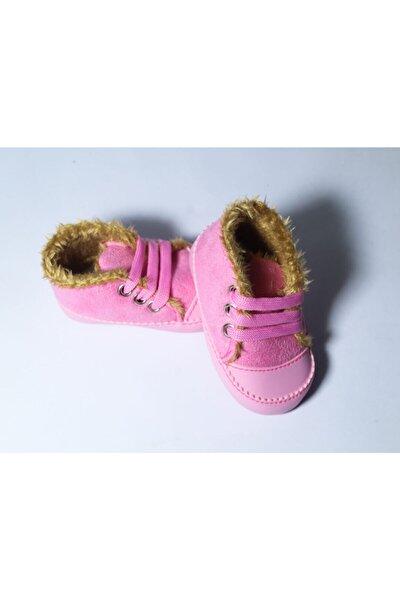 Kız Bebek Kürklü Ilk Adım Ayakkabısı Yeni Doğan Ayakkabı