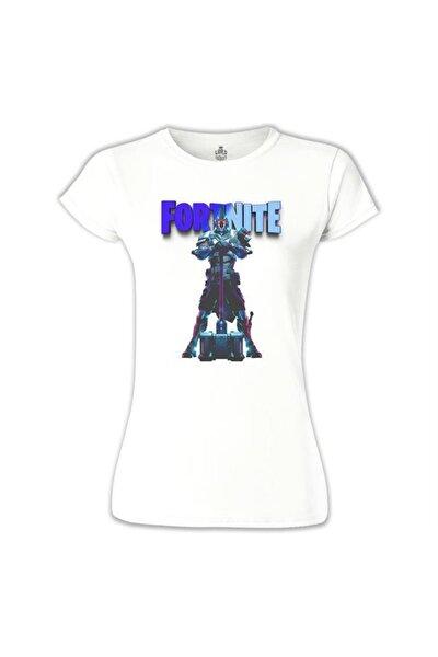 Kadın Beyaz Fortnite Ultima Knight Blue Tshirt