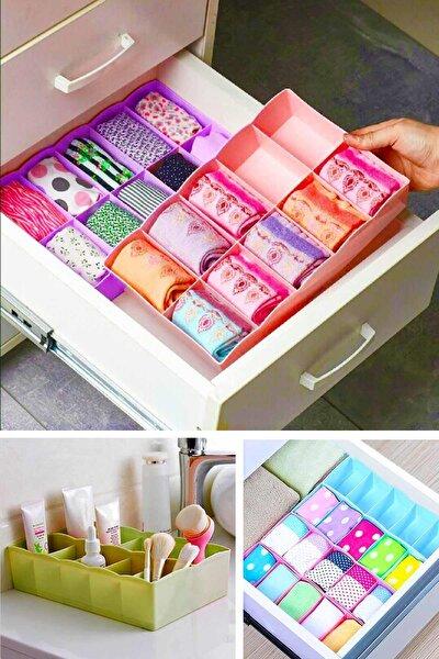 10 Gözlü Çekmece Içi Çorap Düzenleyici Iç Çamaşırı Ve Makyaj Düzenleyici Plastik Organizer