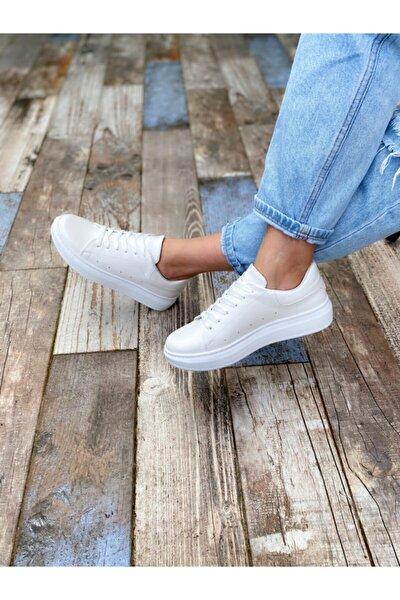 Kadın Beyaz Sando Spor Ayakkabı