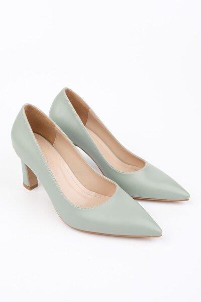Kadın Yeşil Stiletto Topuklu Ayakkabı Akuna