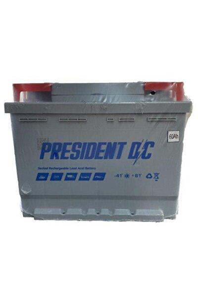 12 V 60 Ah President Akü 2 Yıl Garantili 60 Amper Akü Üretim Tarihi 2021