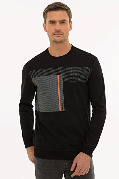 Erkek Siyah Standart Fit Sweatshirt G021SZ082.000.1235974