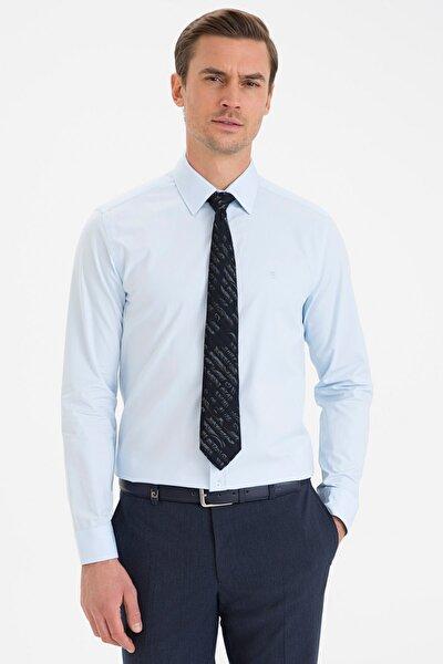 Erkek Açık Mavi Slim Fit Basic Gömlek G021GL004.000.1214558