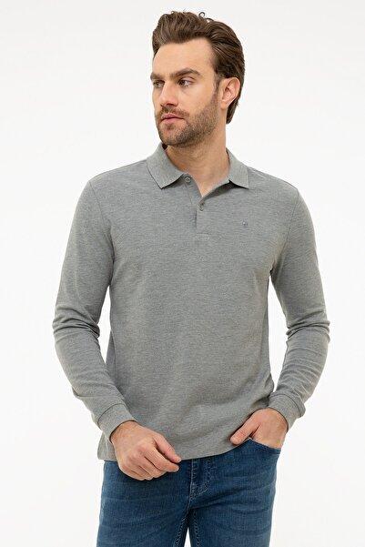 Erkek Gri Melanj Slim Fit Sweatshirt G021GL082.000.1100692