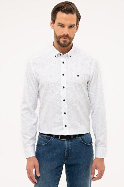 Erkek Mavi Detaylı Slim Fit Gömlek G021GL004.000.1113617