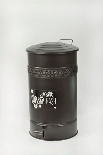 30 Lt Siyah Pedallı Çöp Kovası