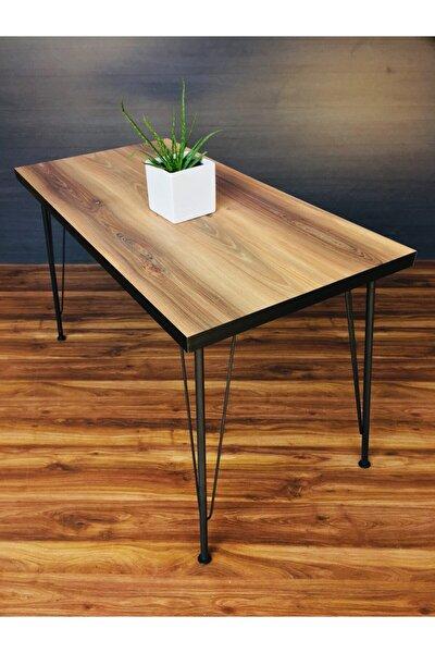 Metal Ayak Hilal Dekoratif Mutfak Masası 60x120cm
