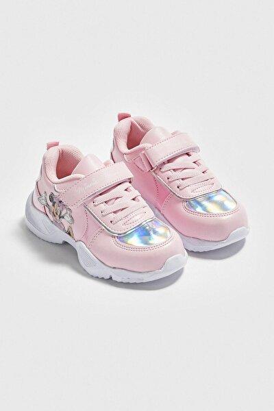 Minnie Mouse Kız Çocuk Açık Pembe E6T Sneaker