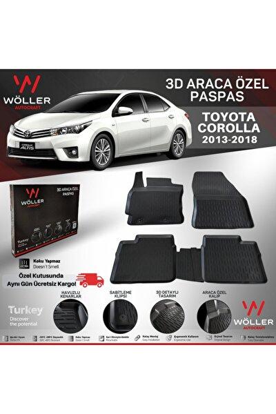 Toyota Corolla Paspas 2013 2018 Arası 3d Havuzlu Paspas