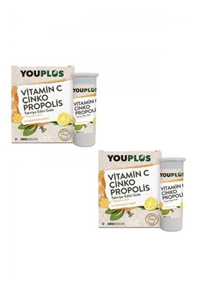 2 Adet Vitamin C Çinko Propolis 20 Efervesan Tablet