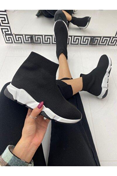 Kadın Siyah Bogazlı Spor Ayakkabı