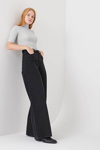 Kadın Füme Cep Detaylı Bol Paça Pantolon Pn1072 - Pni ADX-0000023093
