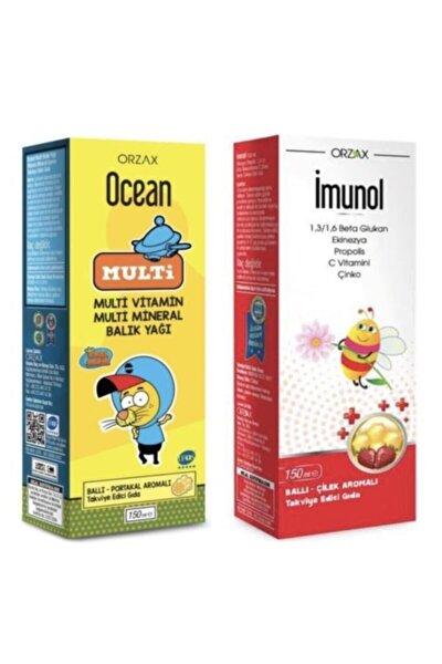Omega 3 Balık Yağı Multi Şurup Ballı Portakallı 150 ml (kral Şakir) + Imunol Şurup 150 ml