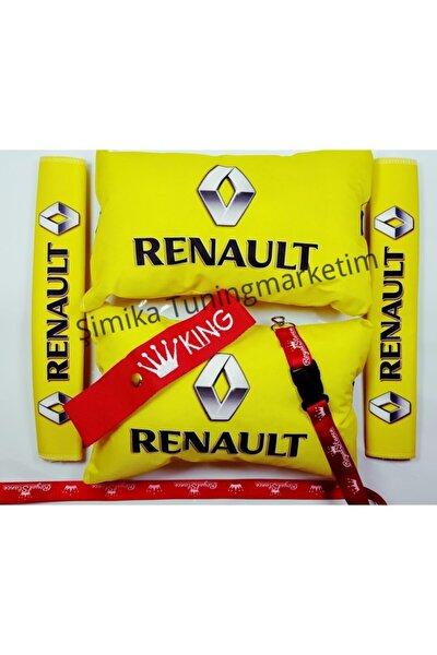 Renault Yastık Lastikli 2 Li Ve 2 Kemer Kılıfı+ayna Ipi Ve Tampo