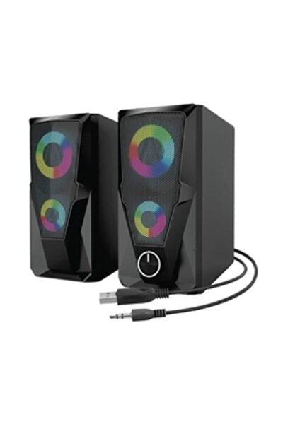 Md-336 2.0 6 Watt Rgb Ledli Siyah Multimedia Usb Speaker