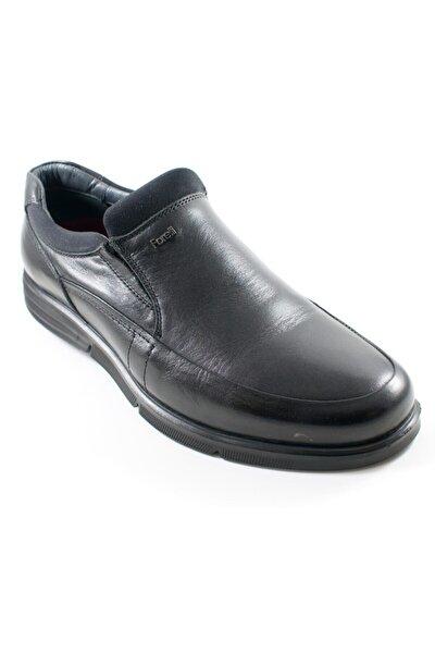 Erkek Siyah Deri Comfort Ayakkabı 69005