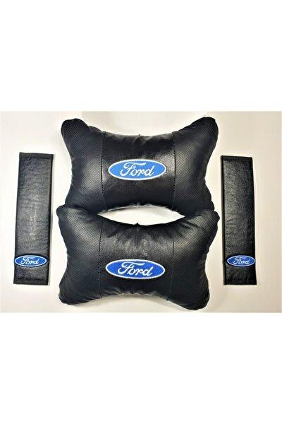 Ford Papyon Yastık Boyun Yastığı + Emniyet Kemeri Kılıfı Takım