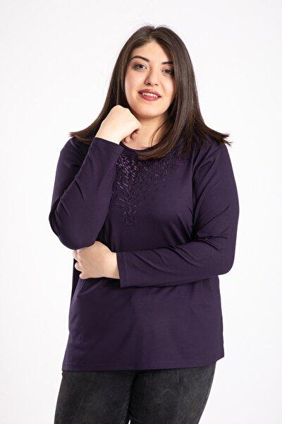 Kadın Mor Penye Bluz 2266