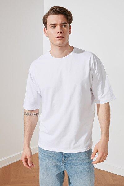 Beyaz Erkek T-Shirt TMNSS21TS3022