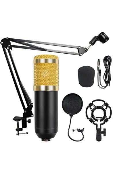 Bm800 Stüdyo Kayıt Youtuber Mikrofonu Seti + Stand + Pop Filtre