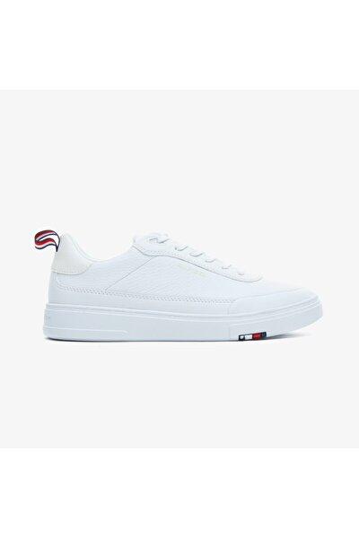 Erkek Beyaz Modern Cupsole Leaer Spor Ayakkabı