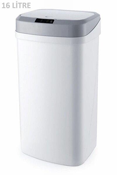 Hijyenik Otomatik Sensörlü Beyaz Renk 16 Lt Çöp Kovası Banyo Mutfak Ofis