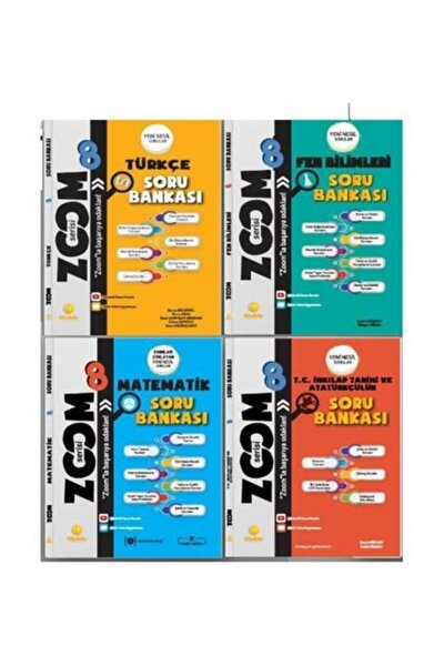 Günay Yayınları 8.Sınıf Zoom 4Lü Soru Bankası Seti (M-T-F-İ)