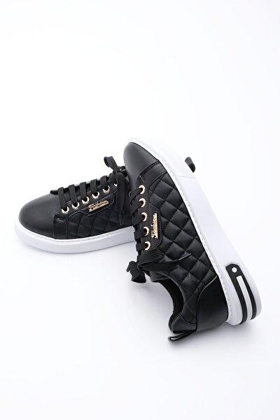 Kadın Siyah Sneaker Spor Ayakkabı Uykez