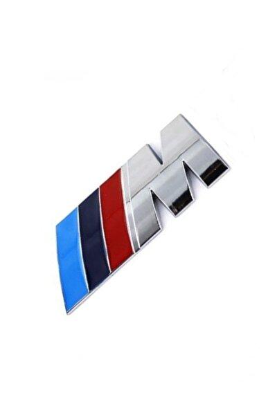 Bmw Metal M Sticker Logo Amblem Paslanmaz Çelik