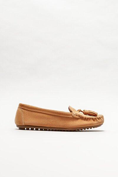 Kadın Naturel Deri Loafer