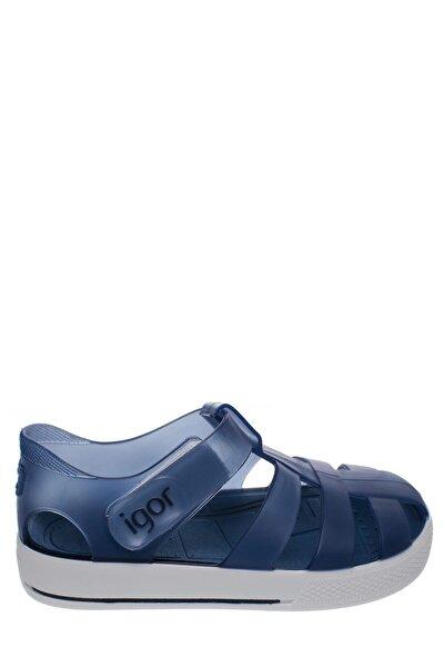 Unisex Çocuk Mavi Star Sandalet
