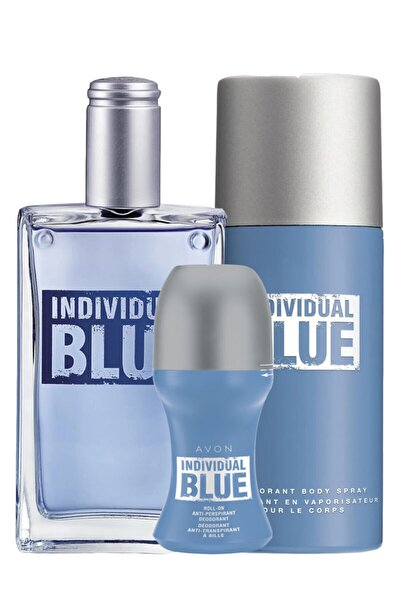 Individual Blue Edt 100ml Erkek Parfüm ELİTKOZMETİK002467 3'lü Set