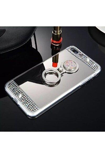 Iphone X Xs Taşlı Aynalı Yüzüklü Kılıf