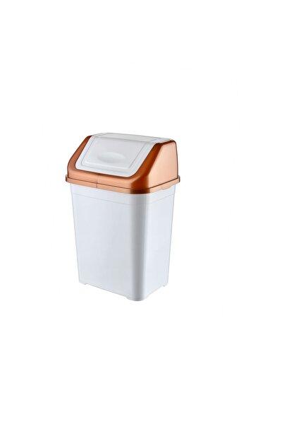 Beyaz Bakır Mutfak Çöp Kovası 5l
