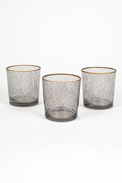 Exotic 3'lü Meşrubat Bardağı Seti_Füme 380 cc