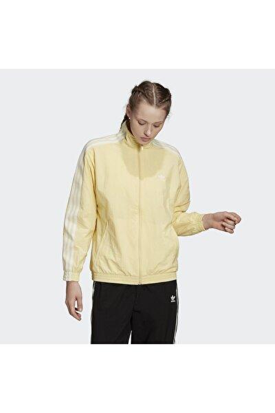 Kadın Sarı Track Top Sweatshirt