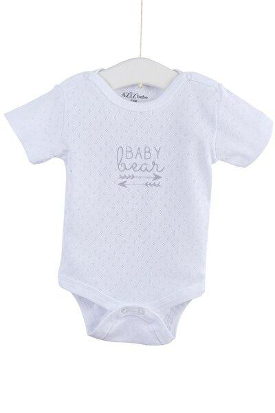 Kız Bebek Kısa Kollu Delikli Çıtçıtlı Badi 0-12 Ay AZZ001711