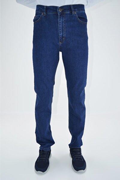 Erkek Mavi Starlıffes Klasik Yüksek Bel Likralı Fermuarlı Pamuklu Kot Pantolon