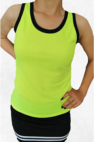 Kadın Neon Yeşil Sporcu Atleti