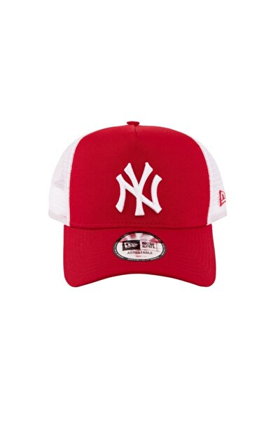 Şapka - Clean Trucker New York Yankees Scarlet/Optic White