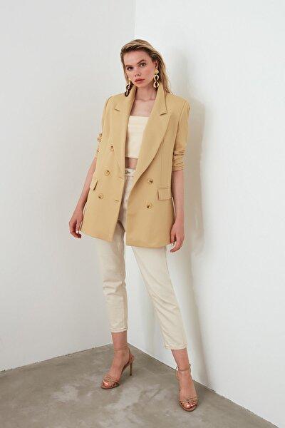 Camel Oversize Blazer Ceket TWOSS19WX0039